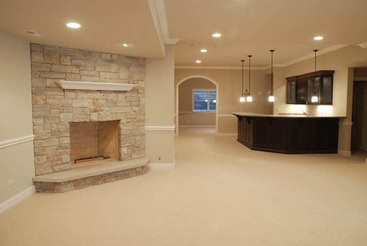 Basement Design Idea Bar Teather Bathroom Norther